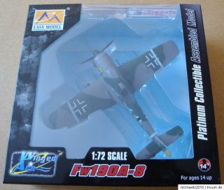 EASY MODEL® 36363 WWII German Fw190A 8 Bule 4 NEU! 172 TOP