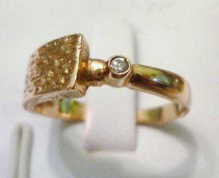 Goldring Brillant 583 Gold 583er Brillantring Rotgold