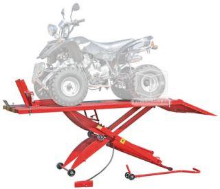 911211 Quad ATV MOTORRADHEBEBÜHNE XL 500 kg pneu.
