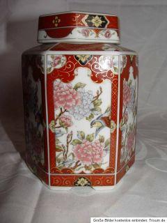 alte Japanische Japan Tee Dose Porzellan japanaise Tea Box porcelain