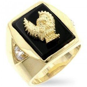 Isady – Freedom   Herren Ring   585er 14K Gold platiert – Adler