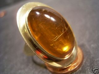 REIF DESIGN   GROSSER BERNSTEIN RING   585 GOLD