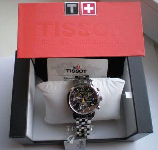 neu HERRENUHR watch Tissot PRC 200 T17 1 586 52 Chronograph SAPHIRGLA