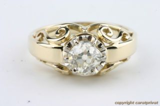 Brillantring Diamantring Gold Ring Solitär 1 ct.