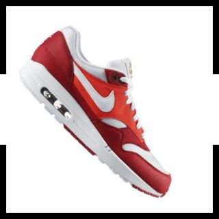 NIKE AIR MAX 1 MENS SNEAKER ROT WEISS F602