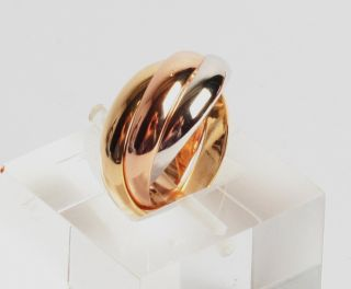 Cartier Trinity 3 Gold Farben 14,6mm , UK 6 1/2, US 3 5/8 FR 45