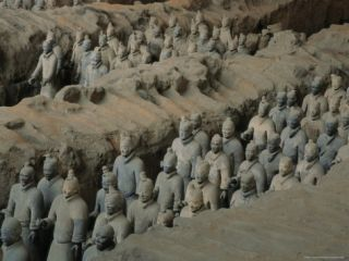 The Terra Cotta Army near the 2,200 Year Old Tomb of Chinas First Emperor, Qin Shi Huang Photographic Print by O. Louis Mazzatenta