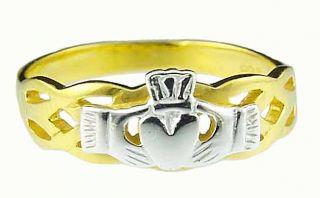 585 Gold Silber keltisch Claddagh von Hand Ring Schmuck