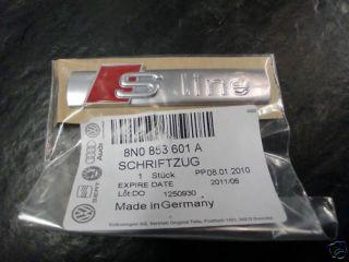 Original Audi S Line Schriftzug 8N0 853 601 A