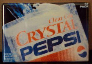 Crystal Pepsi FRIDGE MAGNET soda glass sign clear pop cola 90s vintage