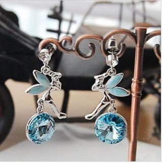 Lovely Fashion Fly Angel Shape Crystal Stud Eearring