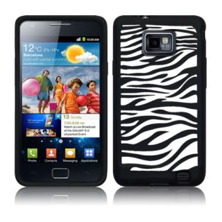 Silikon Huelle Zebra Case Cover Tasche fuer Samsung Galaxy S2 i9100