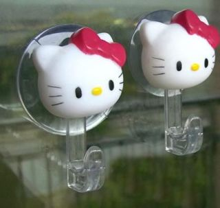 Neu Hello Kitty Kleidung Haken Saugnapf ein paar 6,5cm