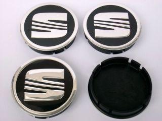 SEAT FELGENDECKEL Logo Emblem NABENKAPPEN 4 x 60mm