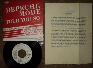 mode TOLD YOU SO Spanish VERY RARE Limited PROMO 7 Info Sheet ESP 611