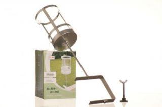 Windlicht kerzenhalter laterne holz glas h25cm k che for Balkon laterne