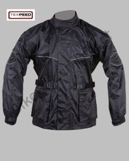 Black Waterproof Motorcycle Bike Cycling Rain Jacket