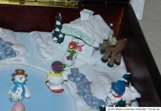 Mr.Christmas,Gold Label Deluxe,Snowmen JamboreeEchtholz Music Box