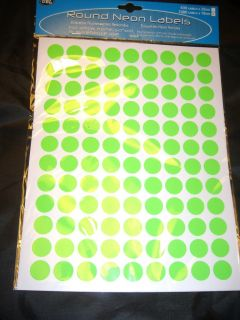 630 OR 1080 LARGE NEON STICKY DOTS PRICE ROUND LABELS STICKERS SELF