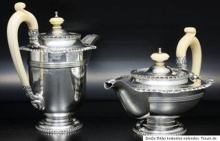 Teeservice Teekanne Silber tea set silver Paul Storr   Design 2,8 kg