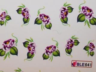 Nail Art Sticker Tattoo One Stroke BLE 641 lila