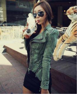 Neu Damen Vintage Punk Rock&Roll Jacke Bluse Niet Mantel Elegant Jeans