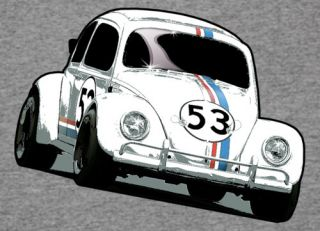 VW Volkswagen Beetle Herbie Cool Boys Grey T Shirt 2 14