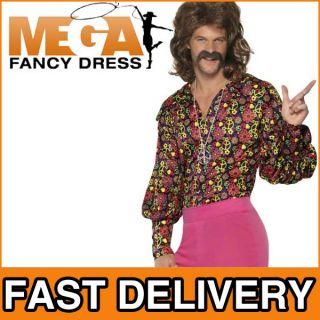 Verkleidung Herren Groovy 60er   70er Outfit Erwachsene Hippie Kostüm