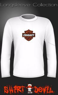 ZÜNDAPP Motorcycles Motorrad Kult Langarm T Shirt   NEU Vintage Style