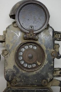 Antikes, Bunkertelefon, Grubentelefon, Wählscheibentelefon, Telefon