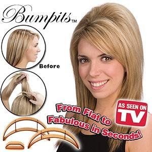 Bumpits Big Happie Hair Set 5 St. Volumen Blond Black Neu