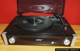 OVP Elta 2950 Stereo Plattenspieler mit Verstärker + Lautsprechern
