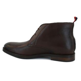 Tommy Hilfiger Brooks 4B Leder Herren Desert Stiefel Schuhe Coffe Bean