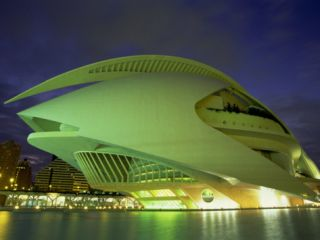 Palace of Arts at Night, City of Arts and Sciences, Valencia, Spain, ope Photographic Print by Jean Brooks