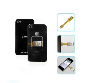 Brand New Dual SIM Card Adapter + Back shell cover Case for apple
