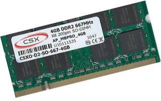 4GB DDR2 667Mhz Laptop Notebook Speicher 667 SoDimm Ram