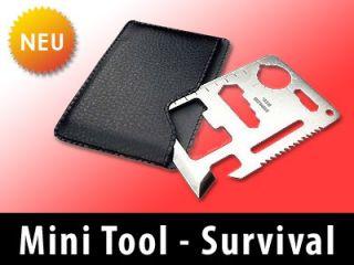 NEU* Multitool, Mini Survival Tool, Multi Werkzeug, Edelstahl