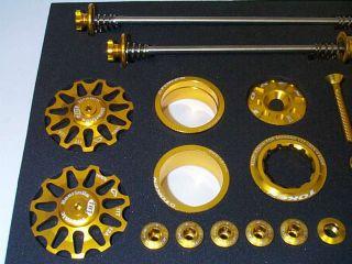 Colour Parts Set MTB TOKEN TK681ST Bling Box gold eloxiert