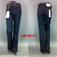 Moment Jeans Sabine 677 D106 dunkelblaue Damenjeans gerader Schnitt
