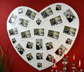 XXL Fotogalerie Bilderrahmen Fotorahmen Weiß BIG HEART für 25 Fotos