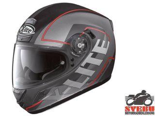LITE X 702 X702 HAWK N COM schwarz matt 9 Helm + Sonnenblende NEU Gr