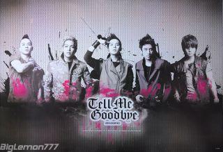 BIG BANG   Tell Me Goodbye KOREAN BAND Poster #1