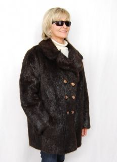 S683 Nutria Jacke Pelz Pelzjacke Nutria Fur Jacket Nutria Fourrure