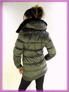 BE COOL Damen Steppjacke Gr. S 36 Taupe Winterjacke Yet Set Mantel