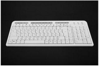 Arabische Arabic Tastatur QWERTZ Neu Weiss USB 15Tasten