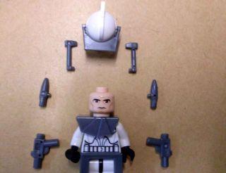 Lego Star Wars Clone Trooper Clone Wars Armor Rüstung und Waffen aus