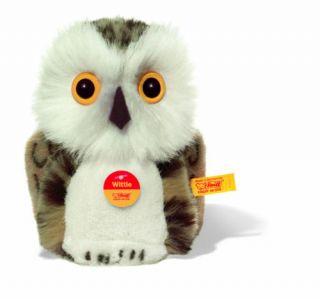 Steiff Baby Vogel Eule Uhu Kauz Wittie 12cm Neu 045608