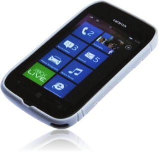 Silikon Rubber Case weiß Nokia Lumia 710 Tasche Schutzhülle Gel Case