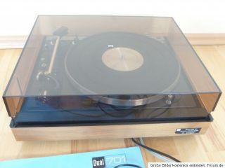 DUAL CS 701 Direct Drive Plattenspieler mit Shure V15 Typ III, Top