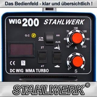 STAHLWERK WIG TIG MMA 200 INVERTER SCHWEIßGERÄT E HAND